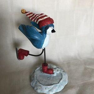 """Russ Berrie Bird Figurine """"13256 Bluebird Skating"""""""